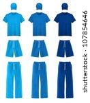 plain shorts  t shirts  pants... | Shutterstock .eps vector #107854646