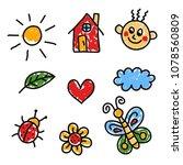 childish naive preschool...   Shutterstock .eps vector #1078560809