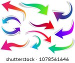 set of curly colorful isolated... | Shutterstock .eps vector #1078561646