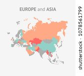 vector world map.   Shutterstock .eps vector #1078561799