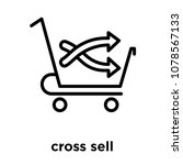 cross sell icon isolated on... | Shutterstock .eps vector #1078567133