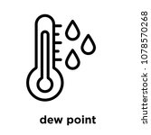 dew point icon isolated on... | Shutterstock .eps vector #1078570268