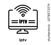 iptv icon isolated on white... | Shutterstock .eps vector #1078572374