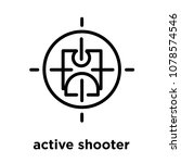 active shooter icon isolated on ... | Shutterstock .eps vector #1078574546