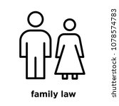 family law icon isolated on... | Shutterstock .eps vector #1078574783