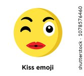 kiss emoji icon isolated on... | Shutterstock .eps vector #1078576460