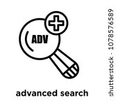 advanced search icon isolated...