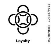 loyalty icon isolated on white... | Shutterstock .eps vector #1078579916