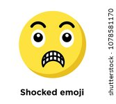 shocked emoji icon isolated on... | Shutterstock .eps vector #1078581170