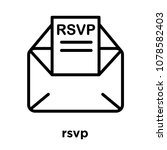 rsvp icon isolated on white... | Shutterstock .eps vector #1078582403