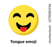 tongue emoji icon isolated on... | Shutterstock .eps vector #1078582436