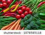 vegetables background. carrots  ... | Shutterstock . vector #1078585118