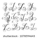 calligraphy lettering script... | Shutterstock .eps vector #1078594643