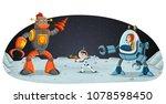 astronaut cartoon children... | Shutterstock .eps vector #1078598450