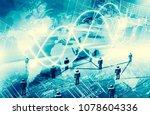 best internet concept of global ... | Shutterstock . vector #1078604336