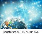 earth from space. best internet ...   Shutterstock . vector #1078604468