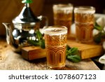 traditional moroccan tea with... | Shutterstock . vector #1078607123