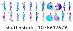 isometrics of teenagers people  ...   Shutterstock .eps vector #1078612679