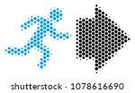halftone hexagonal exit... | Shutterstock .eps vector #1078616690