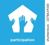 participation icon isolated on... | Shutterstock .eps vector #1078619330