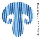 halftone hexagonal champignon... | Shutterstock .eps vector #1078625288
