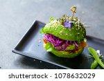 avocado sandwich with green... | Shutterstock . vector #1078632029