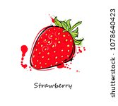 illustration of a strawberry....   Shutterstock . vector #1078640423