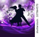 ballroom dancers. this... | Shutterstock .eps vector #107864570