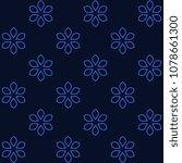 simple floral medallion pattern....   Shutterstock . vector #1078661300