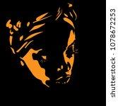 african woman portrait...   Shutterstock .eps vector #1078672253