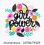 girl power   handdrawn...