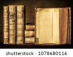 old books on the table | Shutterstock . vector #1078680116