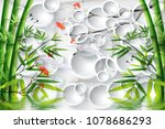 3d green bamboo with white... | Shutterstock . vector #1078686293