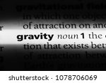 gravity word in a dictionary.... | Shutterstock . vector #1078706069