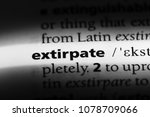 Small photo of extirpate word in a dictionary. extirpate concept