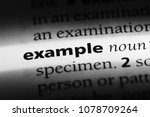 Small photo of example word in a dictionary. example concept