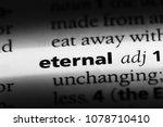 eternal word in a dictionary.... | Shutterstock . vector #1078710410