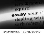 essay word in a dictionary.... | Shutterstock . vector #1078710449