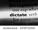 dictate word in a dictionary.... | Shutterstock . vector #1078712420