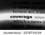 coverage word in a dictionary.... | Shutterstock . vector #1078714154