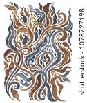 abstract flower. hand drawn... | Shutterstock . vector #1078727198