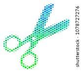 halftone dot scissors icon.... | Shutterstock .eps vector #1078727276