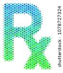 halftone dot rx symbol icon.... | Shutterstock .eps vector #1078727324