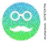 halftone dot pension smiley... | Shutterstock .eps vector #1078729796