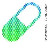 halftone circle medication... | Shutterstock .eps vector #1078730834
