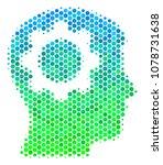 halftone dot intellect gear... | Shutterstock .eps vector #1078731638