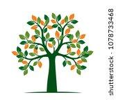 green spring tree. vector... | Shutterstock .eps vector #1078733468