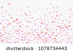 heart watercolor shape  pink... | Shutterstock . vector #1078734443