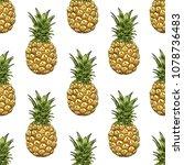 pineapples seamless pattern....   Shutterstock .eps vector #1078736483