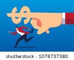 businessman runs in the... | Shutterstock .eps vector #1078737380